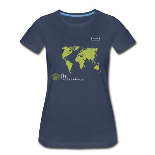 FH Map Green - Women's Premium T-Shirt