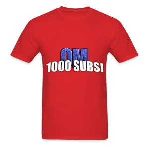 1000 Subs - Standard Quality Men's T-Shirt (Gildan) - Men's T-Shirt