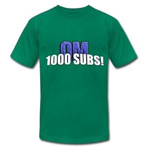 1000 Subs - Premium Quality Men's T-Shirt (American Apparel) - Men's Fine Jersey T-Shirt
