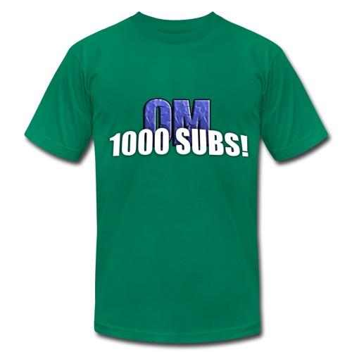 1000 Subs - Premium Quality Men's T-Shirt (American Apparel) - Men's  Jersey T-Shirt