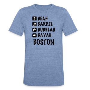 Speaking Boston - Unisex Tri-Blend T-Shirt by American Apparel