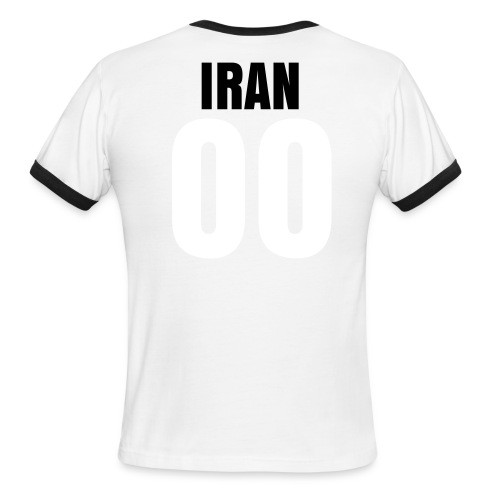 Team melli ringer tee with name and number on the back (customizable) - Men's Ringer T-Shirt