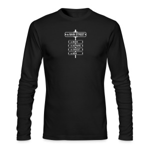 reMain St (WHT) - Men's Long Sleeve T-Shirt by Next Level