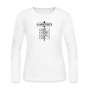 reMain St (BK) - Women's Long Sleeve Jersey T-Shirt