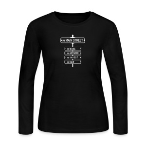 reMain St (WHT) - Women's Long Sleeve Jersey T-Shirt