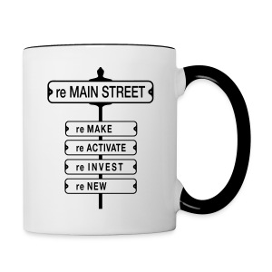 reMain St  - Contrast Coffee Mug