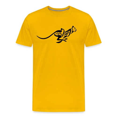 Blazing Cheetah Basic Mens' Tee - Men's Premium T-Shirt