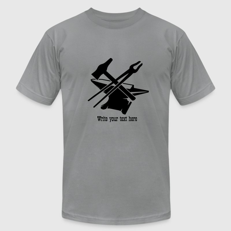 Anvil with hammer and tongs T-Shirts - Men's T-Shirt by American Apparel
