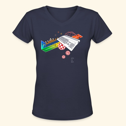collage500 (free shirtcolor selection) - Women's V-Neck T-Shirt