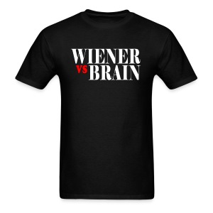 Wiener vs. Brain white type - Men's T-Shirt