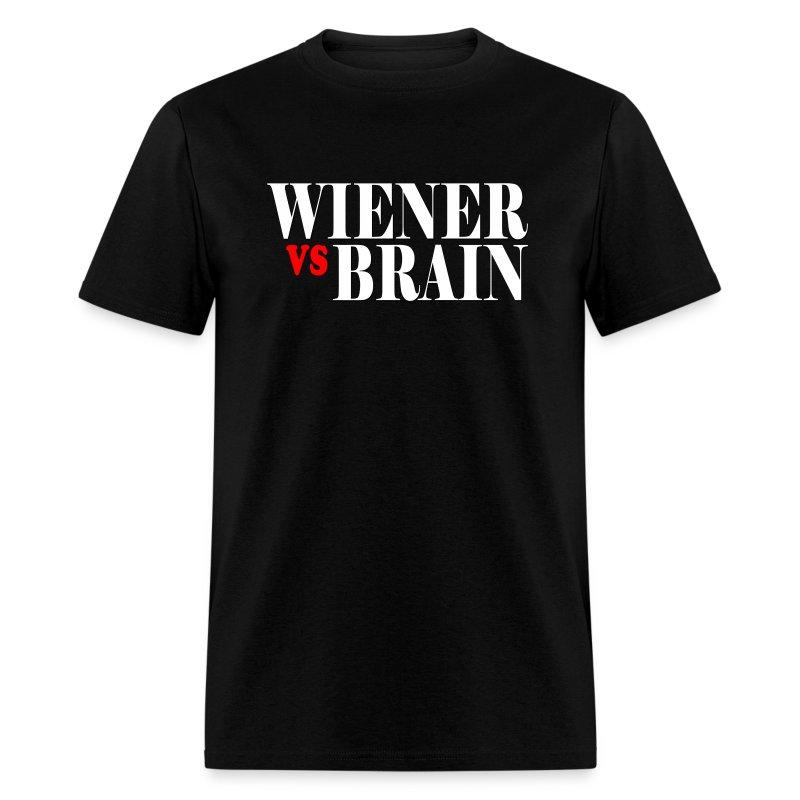 Wiener vs. Brain white type - Men's T-Shirt