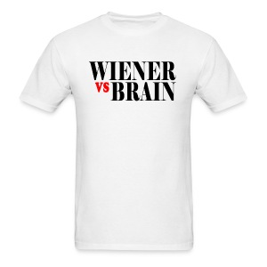 Wiener vs. Brain black type - Men's T-Shirt