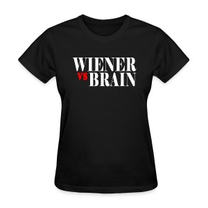 Wiener vs. Brain white type - Women's T-Shirt