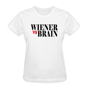 Wiener vs. Brain black type - Women's T-Shirt