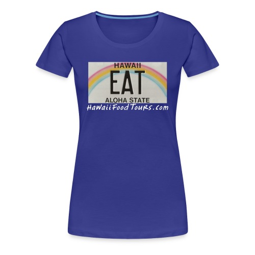 New_EAT_with_URL - Women's Premium T-Shirt