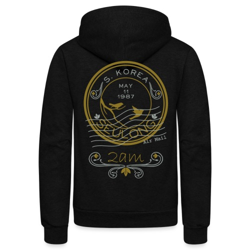 Ong Ong Air Mail - 2am  - Unisex Fleece Zip Hoodie by American Apparel