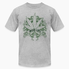 7 Weed Design - Green T-Shirts