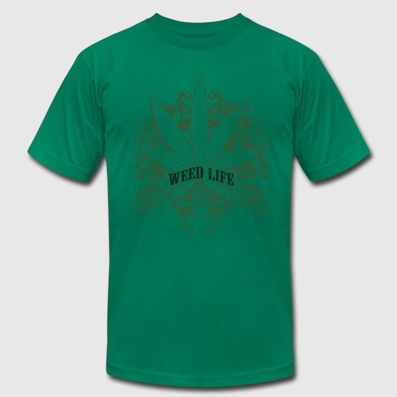 7 Weed Design - Green T-Shirt | Spreadshirt