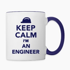 Keep calm I'm an Engineer Bottles & Mugs
