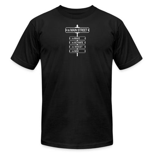 reMain Street (WHT) - Men's  Jersey T-Shirt