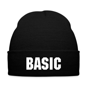 BASIC BEANIE - Knit Cap with Cuff Print