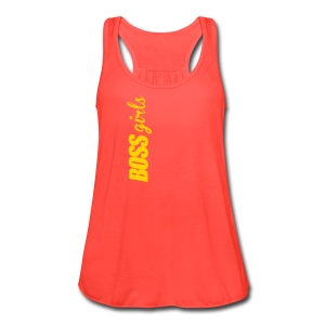 BOSS GIRLS II - Women's Flowy Tank (Orange Print) - Women's Flowy Tank Top by Bella