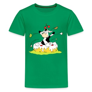 Cow jumping out of Cake Kids' Shirts - Kids' Premium T-Shirt
