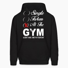 Single Taken At The Gym Hoodies