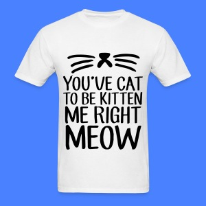 You've Cat To Be Kitten Me Right Meow T-Shirts - Men's T-Shirt