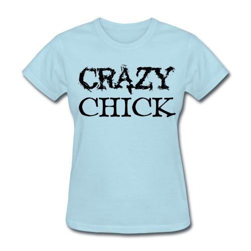 Crazy Chick (Heather Jersey T-Shirt) - Women's T-Shirt