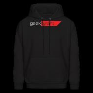Hoodies ~ Men's Hoodie ~ Mens Hoodie  // GeekTyrant RED Logo