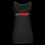 Tanks ~ Women's Premium Tank Top ~ Ladies Tank Top  // GeekTyrant RED Logo