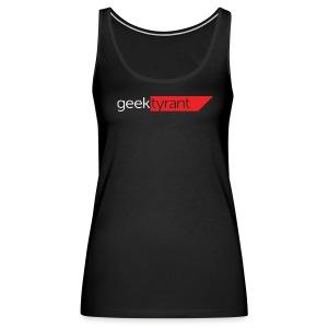 Ladies Tank Top  // GeekTyrant RED Logo - Women's Premium Tank Top
