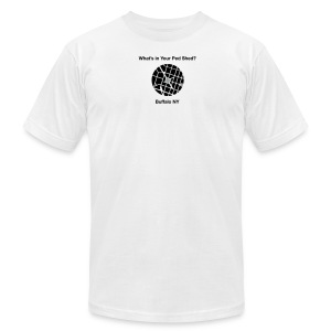 NY Ped Shed (BK) - Men's T-Shirt by American Apparel