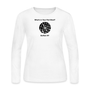 NY Ped Shed (BK) - Women's Long Sleeve Jersey T-Shirt