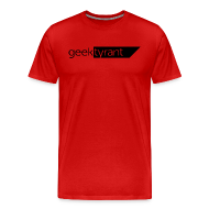 T-Shirts ~ Men's Premium T-Shirt ~ Mens T-shirt  // GeekTyrant BLACK Logo