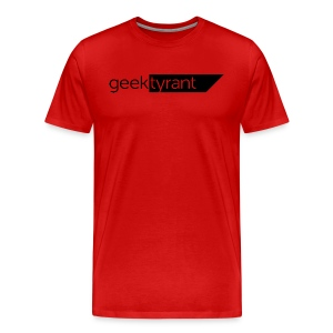 Mens T-shirt  // GeekTyrant BLACK Logo - Men's Premium T-Shirt