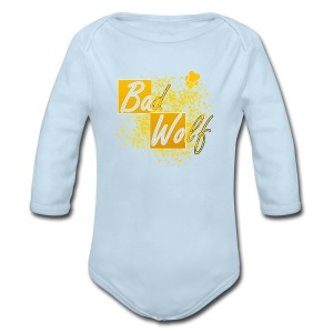Long Sleeve Baby Bodysuit - words,typography,rose tyler,geek,doctor who,bad wolf