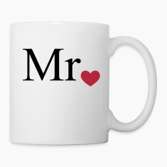 Mr with heart dot (Mr and Mrs set) Bottles & Mugs