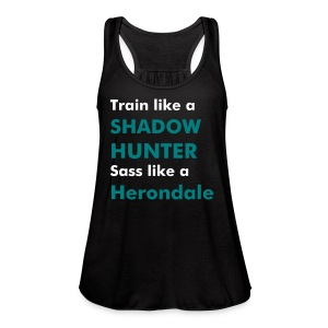 train like a Shadowhunter tank style 2 - Women's Flowy Tank Top by Bella