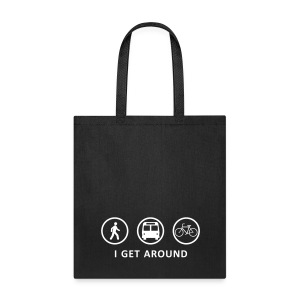 I Get Around (WHT) - Tote Bag