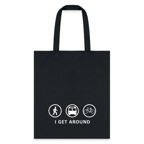 I Get Around (WHT) - Tote Bag