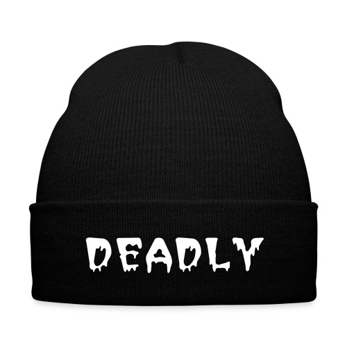 DEADLY Knit Cap - Knit Cap with Cuff Print