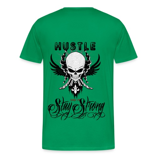 #Hustle Green - Men's Premium T-Shirt