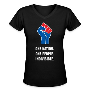 One Nation. One People. Indivisible for women - Women's V-Neck T-Shirt
