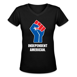 Independent American for women - Women's V-Neck T-Shirt