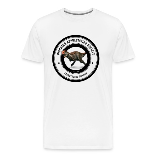 Dinosaur Appreciation Society: Carnotaurus - Men's Premium T-Shirt