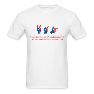 evolution of revolution JFK edition for men - Men's T-Shirt