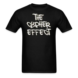 Men's T-Shirt - * The Cypher Effect Logo ( White Font with Black / Camo Outline )