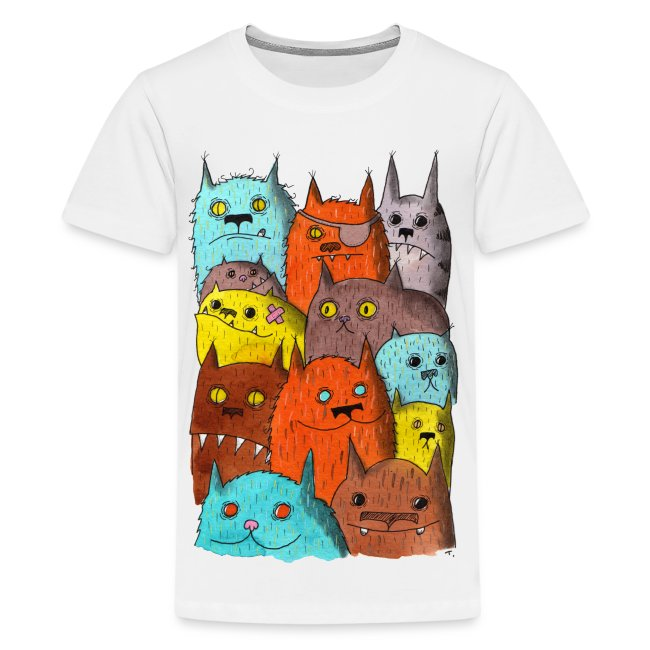 The Cats of Meow Kids Tee